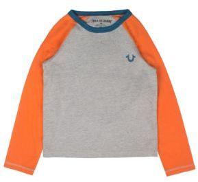 True Religion Toddler's, Little Boy's & Boy's Colorblock Raglan Tee $45 thestylecure.com