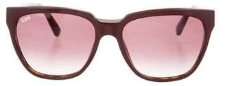 Tod's Gradient Square Sunglasses w/ Tags