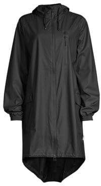 Rains Women's Hooded Parka - Black - Size XXS/XS (0-2)