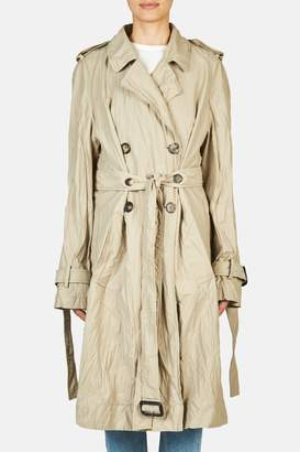 J.W.Anderson Double Faced Crinkle Trench - Hemp