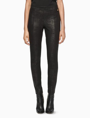 Calvin Klein embossed ponte knit leggings