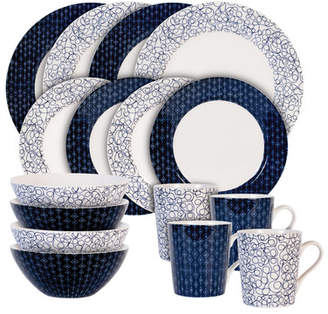 Maxwell & Williams Free and Diamond 16 Piece Dinnerware Set, Service for 4