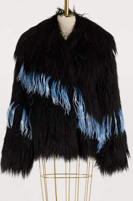 Dries Van Noten Faux fur coat