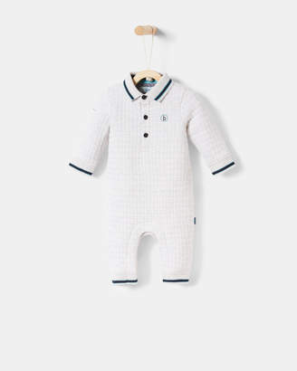 Ted Baker DAMIN Quilted polo collar sleepsuit