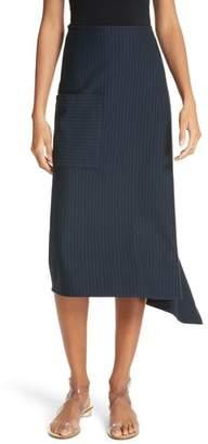 Tibi Origami Asymmetrical Stripe Skirt