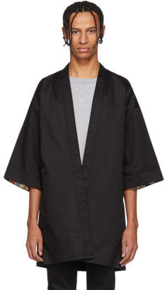 Naked & Famous Denim Denim SSENSE Exclusive Black Haori Shirt