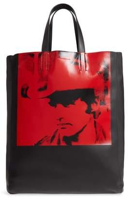 Calvin Klein x Andy Warhol Foundation Dennis Hopper Calfskin Leather Bucket Bag