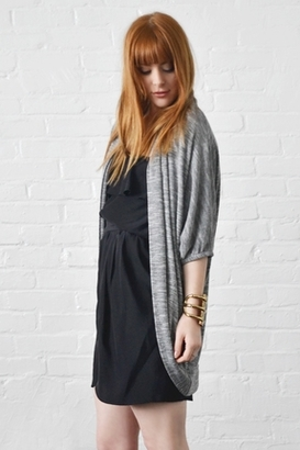 Fluxus Hawk Wrap in Heather Grey $110 thestylecure.com