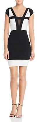GUESS Altea Color-Block Body-Con Dress