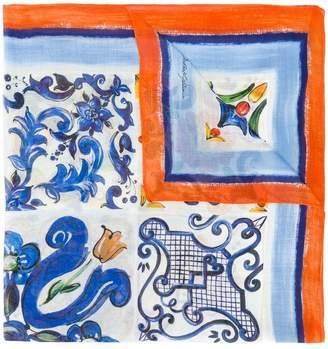 Dolce & Gabbana tiled print scarf
