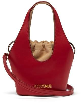 Jacquemus Le Carino Leather Bucket Bag - Womens - Red Multi