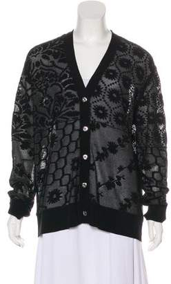 Opening Ceremony Mesh V-Neck Cardigan w/ Tags