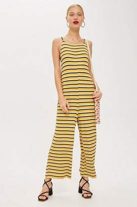 Topshop Striped Slouch Jumpsuit