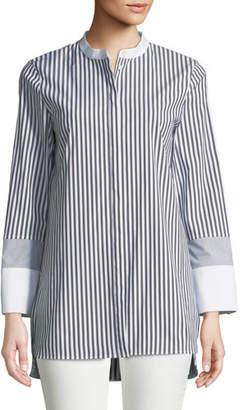 c87bde2df558c2 Lafayette 148 New York Gray Women s Button Front Tops - ShopStyle