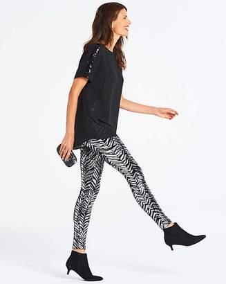 54d2a598ac99c5 Marisota Black & Silver Zebra Sequin Leggings