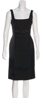 Prada Sleeveless Linen-Blend Dress