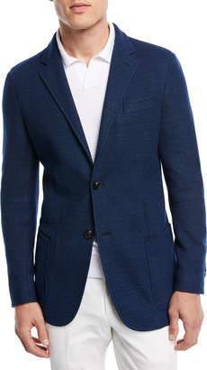 Ermenegildo Zegna Denim Cotton Jersey Two-Button Jacket