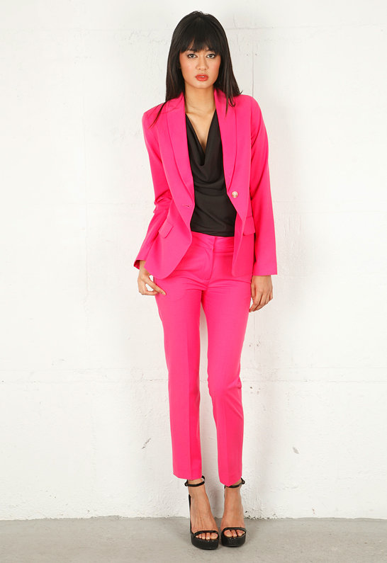 Elizabeth and James Milo Cropped Pant in Shocking Pink