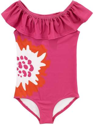 Masala Baby Floral Print One-Piece Swimsuit (Toddler, Little Girls, & Big Girls)