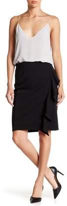 14th & Union Cascading Ruffled Pencil Skirt