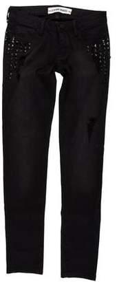 Etienne Marcel Embellished Low-Rise Jeans