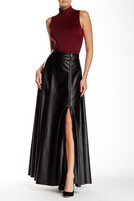 TOV Faux Leather Maxi Skirt $222 thestylecure.com