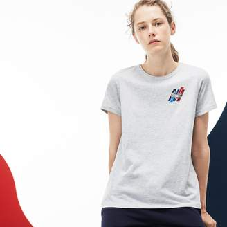 Lacoste Women's Tricolor Collection Crew Neck Jersey T-shirt