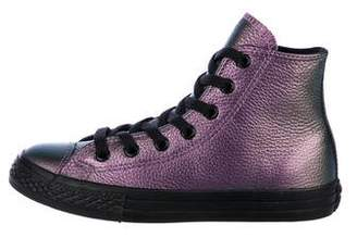 Converse Girls' Metallic Leather Sneakers w/ Tags