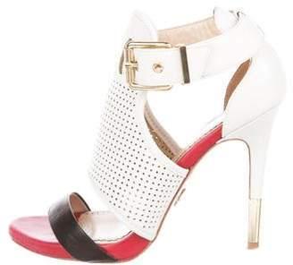 Pour La Victoire Leather Caged Sandals