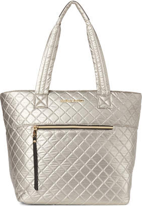 Adrienne Vittadini Quilted Nylon Tote