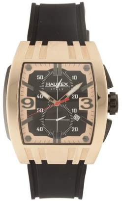 Haurex Italy Men's 3R326UNH Mangusta Rose-Gold PVD Tonneau Jumbo Case Chrono Watch