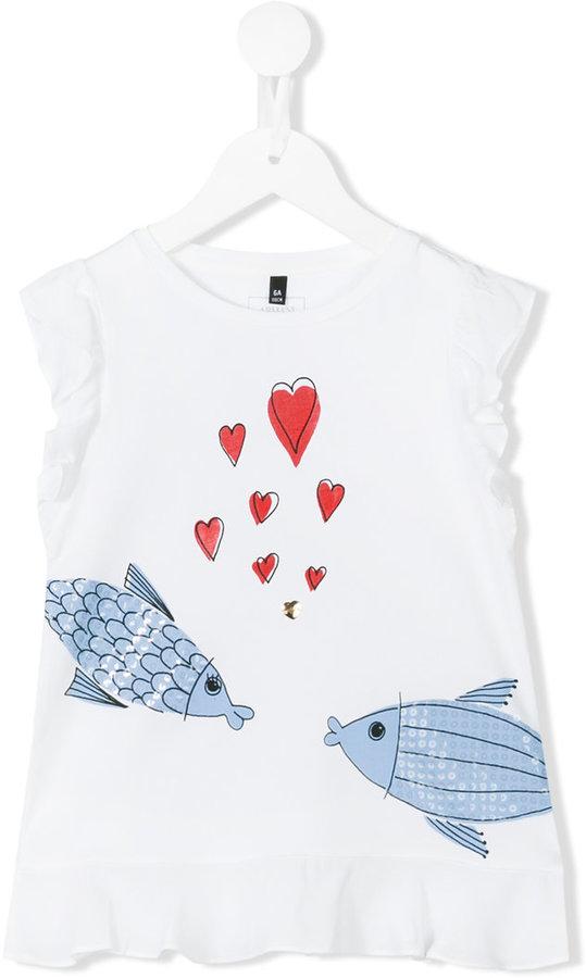 Armani JuniorArmani Junior fish print top