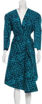 Lanvin Printed Gathered Dress
