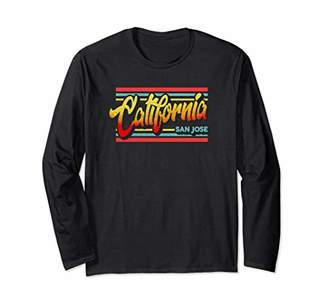 San Jose California Retro Vintage 80's Style Long Sleeve