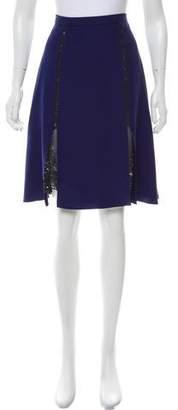 Prabal Gurung Silk Floral Print-Accented Skirt