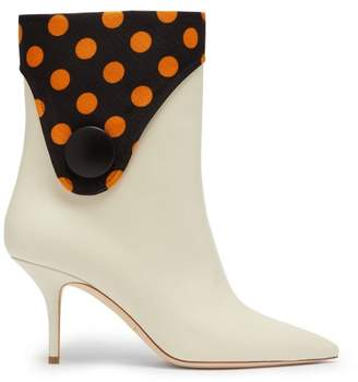 Malone Souliers By Roy Luwolt - X Emanuel Ungaro Marisa Leather Boots - Womens - Black Yellow