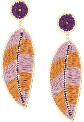 Mercedes Salazar Paramo leaf earrings