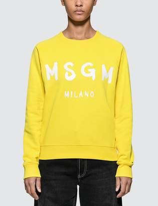 MSGM Brush Strokes Logo Sweatshirt