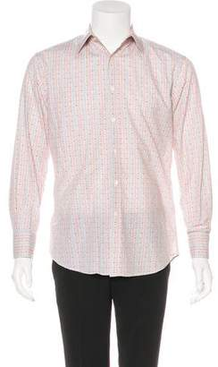 Paul Smith Striped Floral French Cuff Shirt