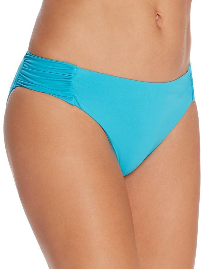 Trina Turk Solid Shirred Hipster Bikini Bottom
