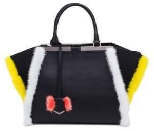Fendi 3Jours Leather& Mink Fur Satchel