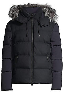 Mackage Men's Randi Silver Fox Fur-Trim Nylon Down Puffer Jacket