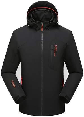 d25a06240 Fulok Mens Winter Plus Size Outdoors Mountain Waterproof Jackets Coat 3X- Large