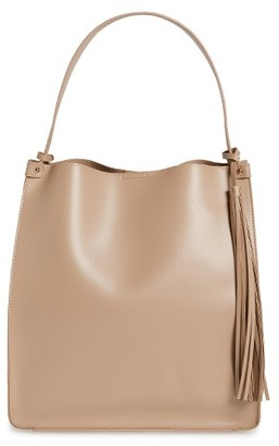 Sole Society Karlie Faux Leather Bucket Bag - Pink $64.95 thestylecure.com