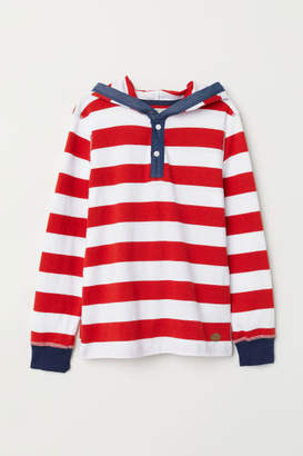 H&M Jersey Hooded Shirt - Red