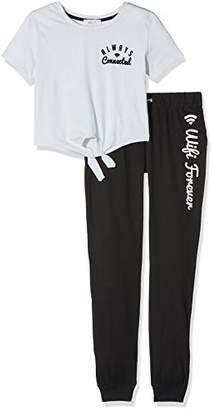 New Look Girl's 5480785 Pyjama Bottoms, (Light Blue), (Size: 52)