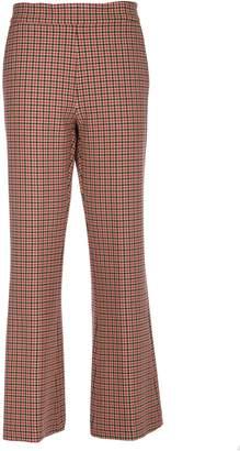 Vivetta Checked Slim Fit Trousers