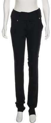 Anthony Vaccarello Mid-Rise Straight-Leg Pants
