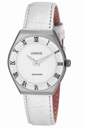 Jowissa Men's J4.080.L Costa Stainless Steel Leather Roman Numeral Watch