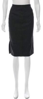 Ralph Lauren Purple Label Striped Knee-Length Skirt w/ Tags